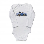 Boy in Blue Car Onesie