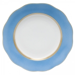 Silk Ribbon Cornflower Dessert Plate