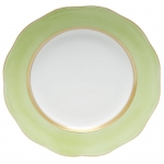 Silk Ribbon Lime Dessert Plate