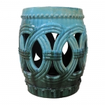 Circle of Life Turquoise Garden Stool