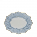 Cornflower Lace Medium Fluted Tray