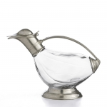 Pewter Duck Decanter