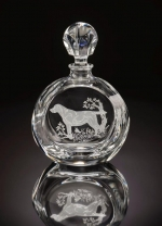 Golden Retriever Round Decanter