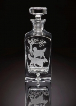 English Setter Square Decanter