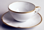 Simply Elegant Gold Tea Cup Saucer