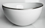 Simply Elegant Platinum Open Vegetable Bowl