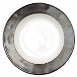 Emerson White and Pewter Pasta or Salad Bowl
