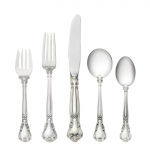 Chantilly Sterling Five Piece Place Setting with Cream Soup Spoon