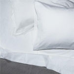 Bordeaux White Stripe Queen Sheet Set