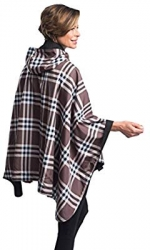 Black and Coco Plaid Rainproof Warmcaper