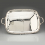 Gadroon Edged Silver Rectangular Tray