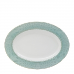 Green Lace Oval Platter