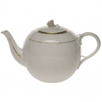 Golden Edge 36 Ounce Tea Pot with Rose