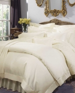 Giza 45 Sateen Ivory King Fitted Sheet