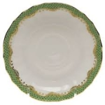 Fish Scale Jade Canton Saucer
