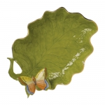 Leaf Dish with Butterfly