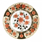Imari Accent Antique Chrysanthemum Accent Plate