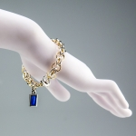 Solstice Bracelet with Blue Enamel