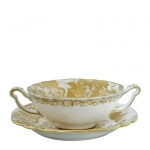 Gold Aves Cream Soup Cup with Handles