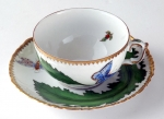 Green Leaf Tea Cup and Saucer