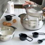 Stainless Nesting Bowls and Measuring Cups