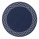 Helix Navy Round Placemats, Set of Four