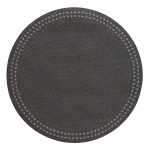 Pearls Charcoal Round Placemats, Set of 4