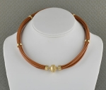 Aspen Leather Camel Brown Necklace