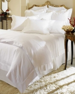 Giza 45 Percale Ivory Queen Flat Sheet