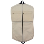 Natural and Navy Garment Bag