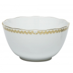 Golden Laurel Round Vegetable Bowl