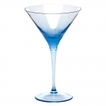 Pebbles Aquamarine Martini Glass