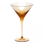 Pebbles Topaz Martini Glass