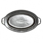 Pewter Stoneware Turkey Platter with handles