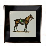 Polo Horse with Green Saddle Square Plate