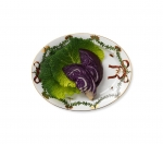 Star Fluted Christmas Oval Platter