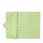 Quadrille Green Set of Six Placemats