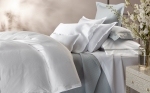 White Talita Satin Stitch Standard Pillowcase, Pair