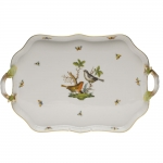 Rothschild Bird Rectangular Tray with Branch Handles
