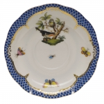 Rothschild Bird Blue Border Tea Cup Saucer - Motif #2