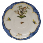 Rothschild Bird Blue Border Tea Cup Saucer - Motif #3