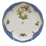 Rothschild Bird Blue Border Tea Cup Saucer - Motif #6