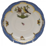 Rothschild Bird Blue Border Tea Cup Saucer - Motif #7