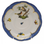 Rothschild Bird Blue Border Tea Cup Saucer - Motif #8