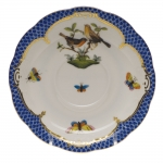Rothschild Bird Blue Border Tea Cup Saucer - Motif #9