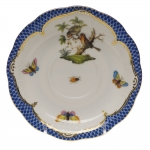 Rothschild Bird Blue Border Tea Cup Saucer - Motif #10
