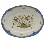 Rothschild Bird Blue Border Oval Platter