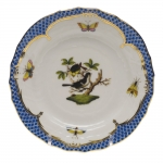 Rothschild Bird Blue Border Bread and Butter Plate, Motif #1