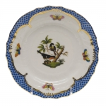 Rothschild Bird Blue Border Bread and Butter Plate, Motif #2
