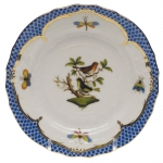Rothschild Bird Blue Border Bread and Butter Plate, Motif #3